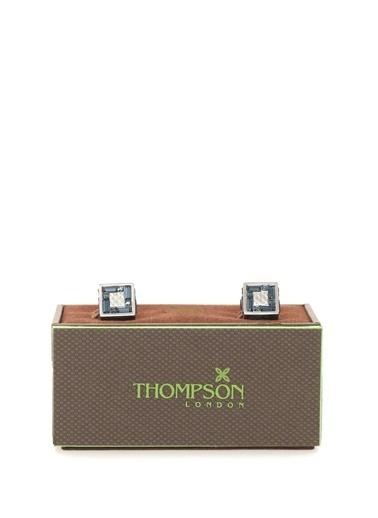 Thompson Kol Düğmesi Gümüş